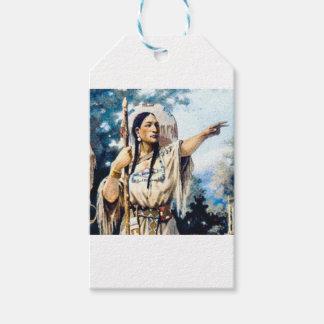 Étiquettes-cadeau femme indienne de squaw