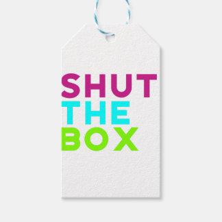 Étiquettes-cadeau Fermez le logo de boîte