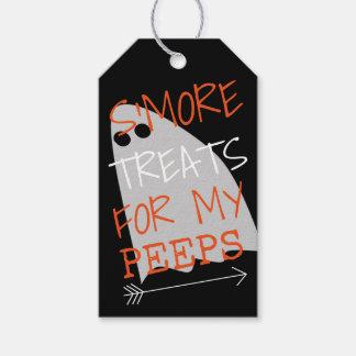 Étiquettes-cadeau Festins de Halloween S'More pour mes piaulements