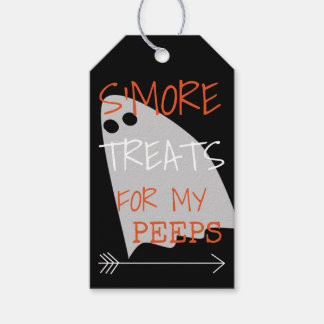 Étiquettes-cadeau Festins de S'More pour mes piaulements Halloween