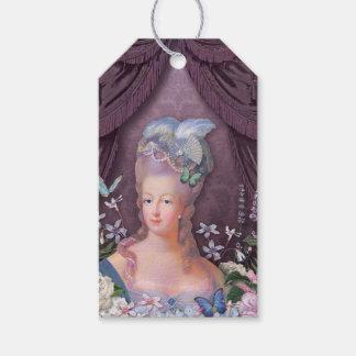 Étiquettes-cadeau Floral pourpre de Marie Antoinette