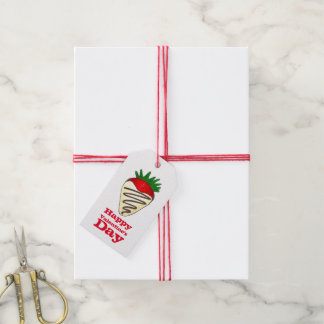 Étiquettes-cadeau Fraise blanche de chocolat d'amour de
