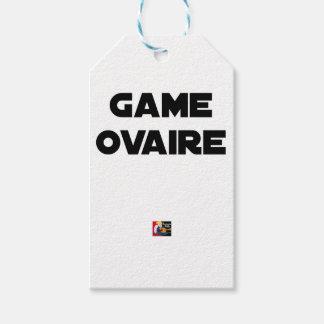 Étiquettes-cadeau Game Ovaire - Jeux de Mots - Francois Ville