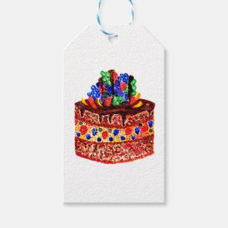 Étiquettes-cadeau Gâteau de chocolat 2