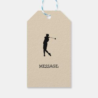 Étiquettes-cadeau Golfeur