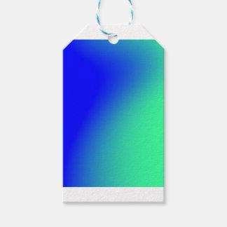 Étiquettes-cadeau Gradient bleu de nomade