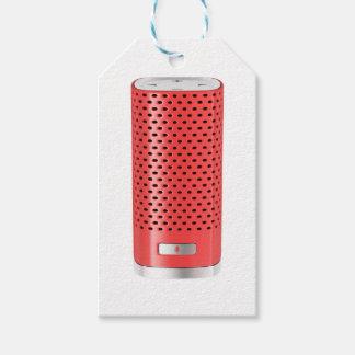 Étiquettes-cadeau Haut-parleur futé rouge
