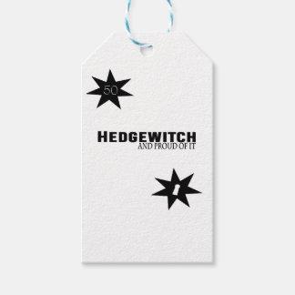 Étiquettes-cadeau Hedgewitch et fier de lui