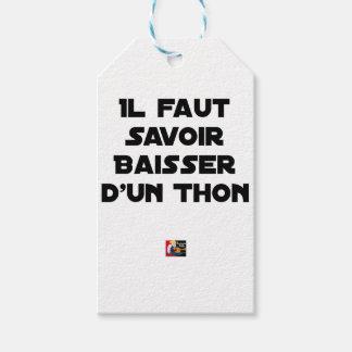 Étiquettes-cadeau IL FAUT SAVOIR BAISSER D'UN THON - Jeux de mots