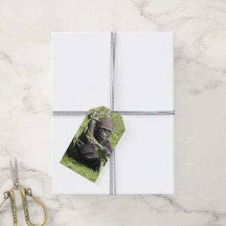 Étiquettes-cadeau Jeune gorille mignon