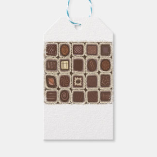Étiquettes-cadeau Jour en bon état de chocolat - jour d'appréciation