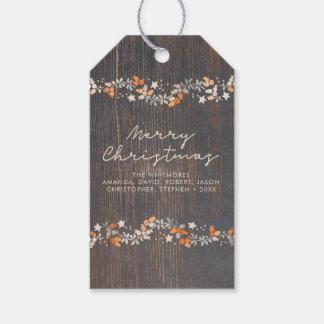 Étiquettes-cadeau Joyeux Noël rustique