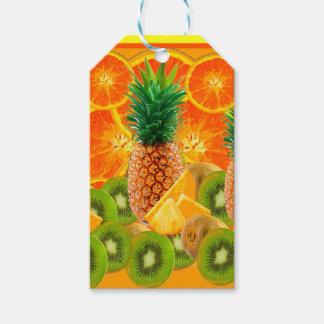 Étiquettes-cadeau KIWI HAWAÏEN de TRANCHES d'ANANAS tropical et