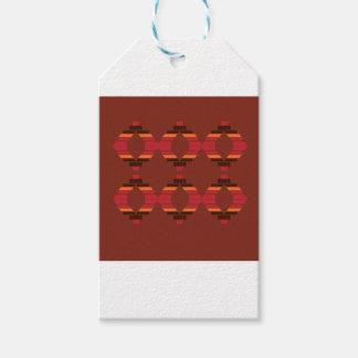 Étiquettes-cadeau La conception bloque le chocolat ethnique