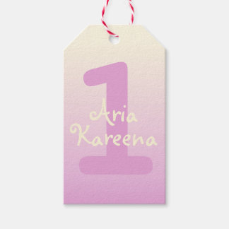 Étiquettes-cadeau La faveur d'anniversaire de Kareena d'aria