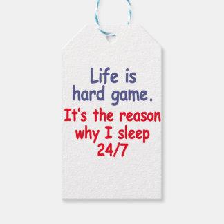Étiquettes-cadeau La vie est jeu dur, il est la raison pour laquelle