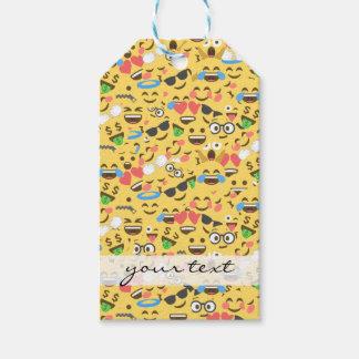 Étiquettes-cadeau l'amour mignon d'emoji entend le motif de rire de