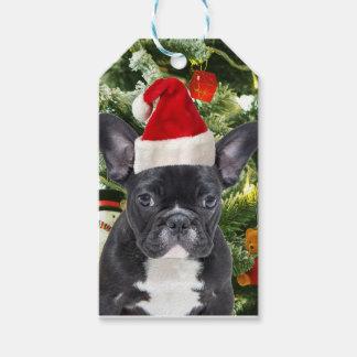Étiquettes-cadeau L'arbre de Noël de bouledogue français ornemente