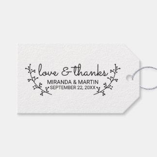 Étiquettes-cadeau Lauriers rustiques épousant la faveur