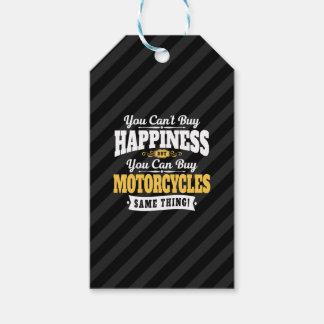 Étiquettes-cadeau Le bonheur d'achat de pente de motocycliste peut