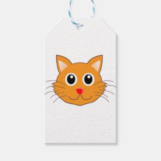 Étiquettes-cadeau Le chat orange au nez rouge