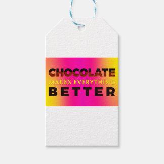 Étiquettes-cadeau Le chocolat rend tout meilleur