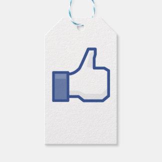 Étiquettes-cadeau le facebook M'AIMENT manier maladroitement !
