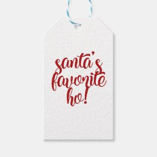 Étiquettes-cadeau Le favori de Père Noël Ho !