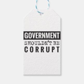 Étiquettes-cadeau Le gouvernement ne devrait pas être corrompu