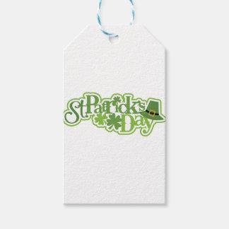 Étiquettes-cadeau Le jour de St Patrick, conception d'Irlandais de