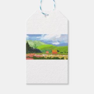 Étiquettes-cadeau Le paysage loge l'art