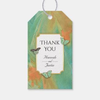 Étiquettes-cadeau Le sud-ouest vintage de papillons colore le Merci