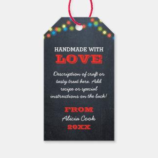 Étiquettes-cadeau Le tableau allume l'étiquette faite main de cadeau