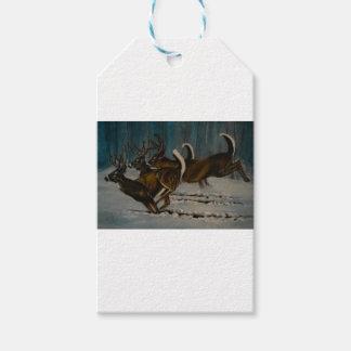 Étiquettes-cadeau Les 3 cerfs communs