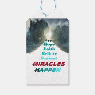 Étiquettes-cadeau Les miracles se produisent