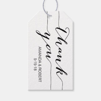 Étiquettes-cadeau L'étiquette   de faveur de mariage vous remercient