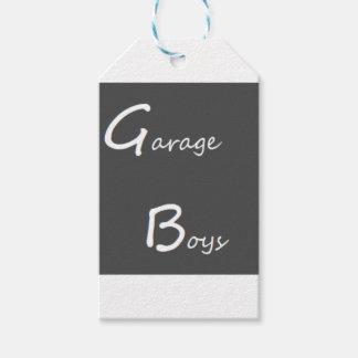 Étiquettes-cadeau Logo de garçons de garage
