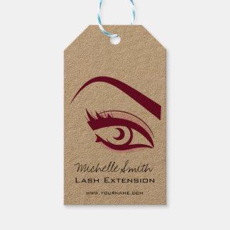 Étiquettes-cadeau Longue icône d'extension de mèche de cils d'oeil