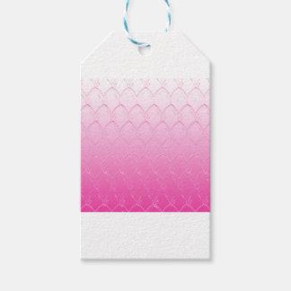 Étiquettes-cadeau Lumière aux échelles roses foncées