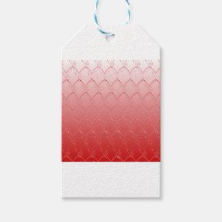 Étiquettes-cadeau Lumière aux échelles rouge foncé