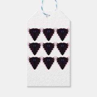 Étiquettes-cadeau Mandalas noirs et blancs/sur le blanc