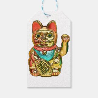Étiquettes-cadeau Maneki-neko, chat chanceux, Winkekatze