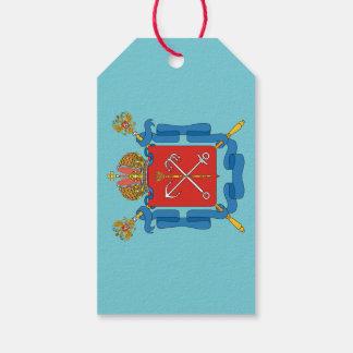 Étiquettes-cadeau Manteau des bras du St Petersbourg