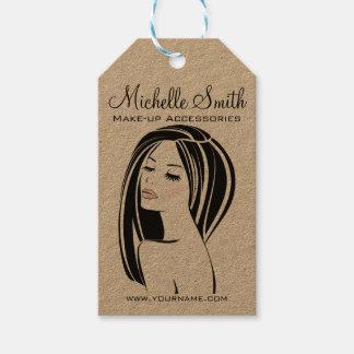 Étiquettes-cadeau Marquage à chaud de cils de visage de femme de
