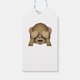Étiquettes-cadeau Mignon ne voir l'aucun singe mauvais Emoji