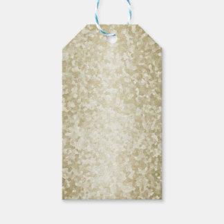 Étiquettes-cadeau Modèle d'arrière - plan de scintillement d'or