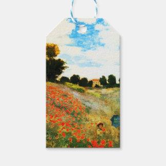 Étiquettes-cadeau Monet-Pavots de Claude à Argenteuil