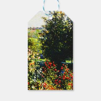 Étiquettes-cadeau Monet-Roses de Claude dans le jardin chez