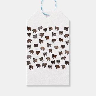 Étiquettes-cadeau Motif de chien de carlin