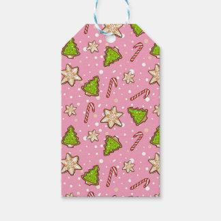 Étiquettes-cadeau Motif de Noël de biscuits de gingembre